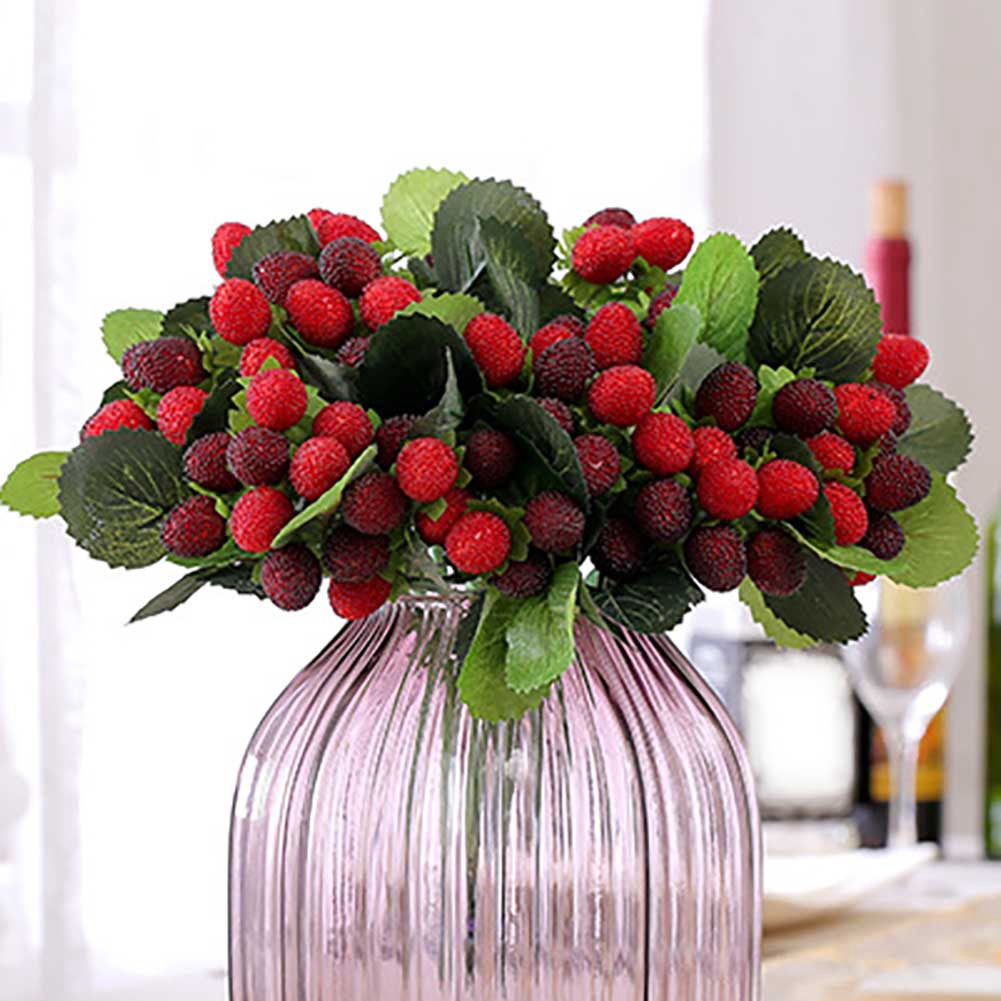 Artificial Plant Flower Fruit Strawberry Photo Props Home Room Decor Useful UK