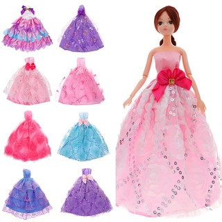 Elegant Romantic Ball Gown Wedding Princess Party for Dolls Clothes