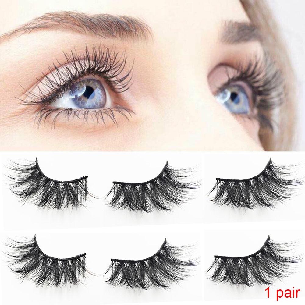 2PCS 25mm Mink Hair Handmade 5D Thick Extension Makeup Tool Reusable False Eyelash