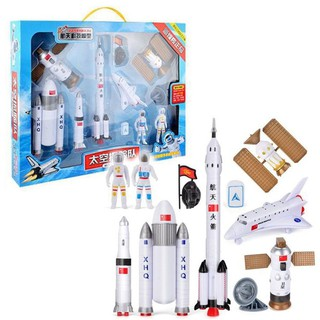 Space station adventure model kit with shuttle rocket astronauts kids gift set