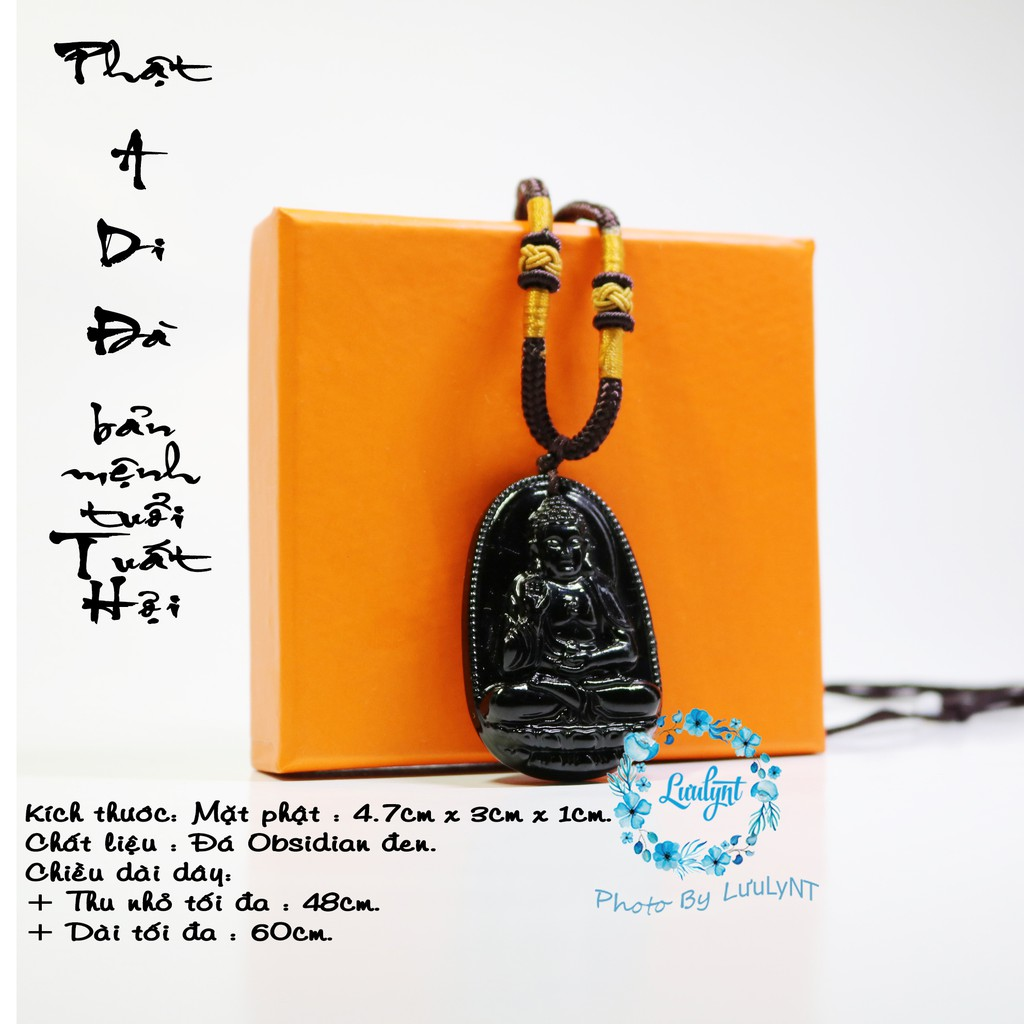 MIỄN PHI VẬN CHUYỂN - Dây chuyền dù phật A Di Đà - Phật bản mệnh tuổi Tuất, tuổi Hợi - mặt phật - tượng phật
