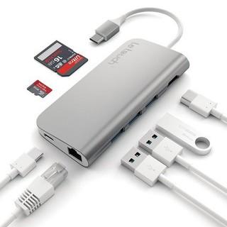 [Mã 159ELSALE hoàn 7% xu đơn 300K] Cáp Usb Type C Chính hãng Letouch Multi Port Adapter 8 in 1 (xám) thumbnail