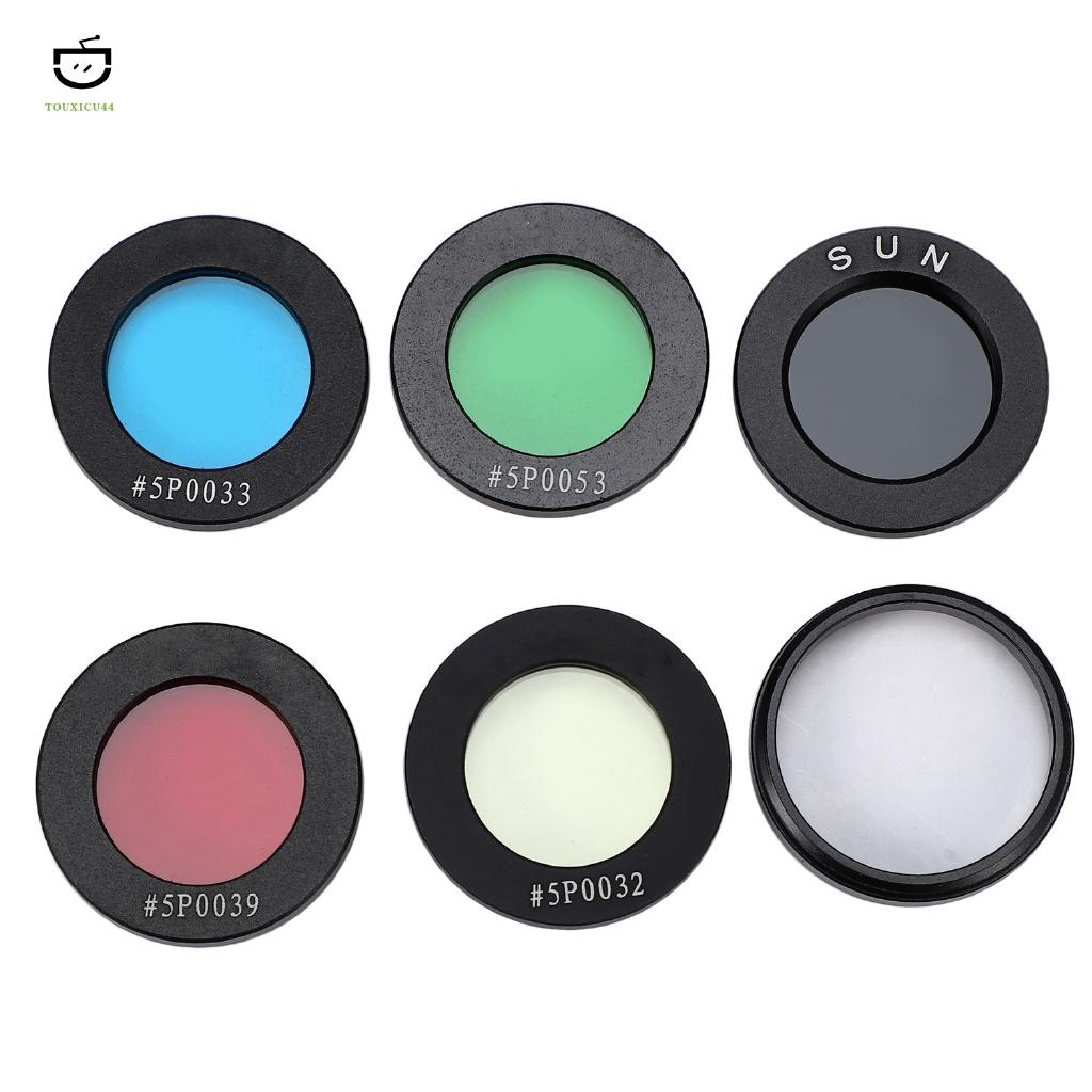 Fishing-Accessories Astro Filters for Astronomical Telescopes Oculares Lens Planets Nebula Filter Fine Thread 4 Colors