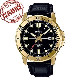 Đồng hồ nam dây da Casio Standard chính hãng Anh Khuê MTP-VD01GL-1EVUDF