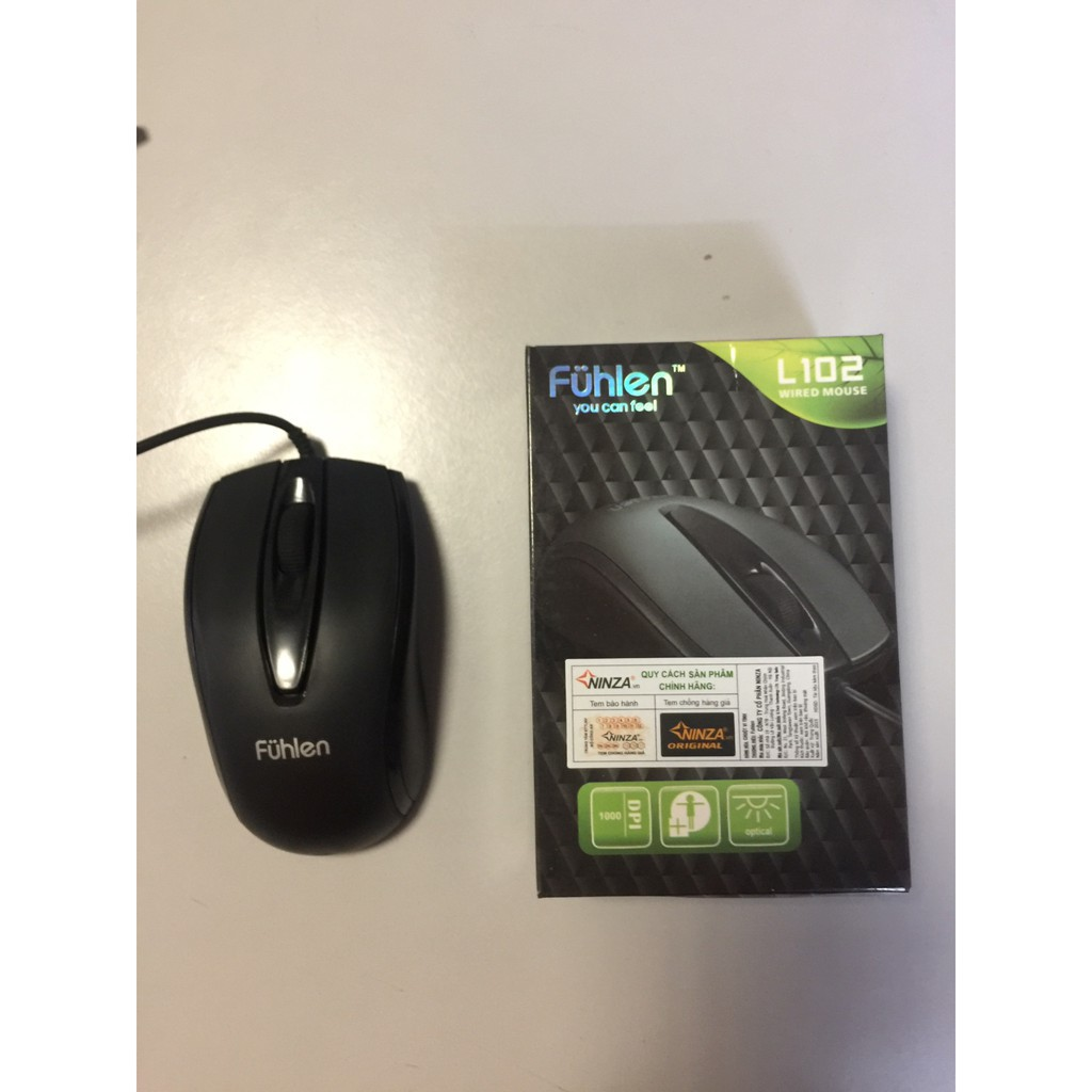 [Kho phụ kiện] Chuột fuhlen L102 có dây hàng bảo hành 12 tháng Giá chỉ 45.000₫