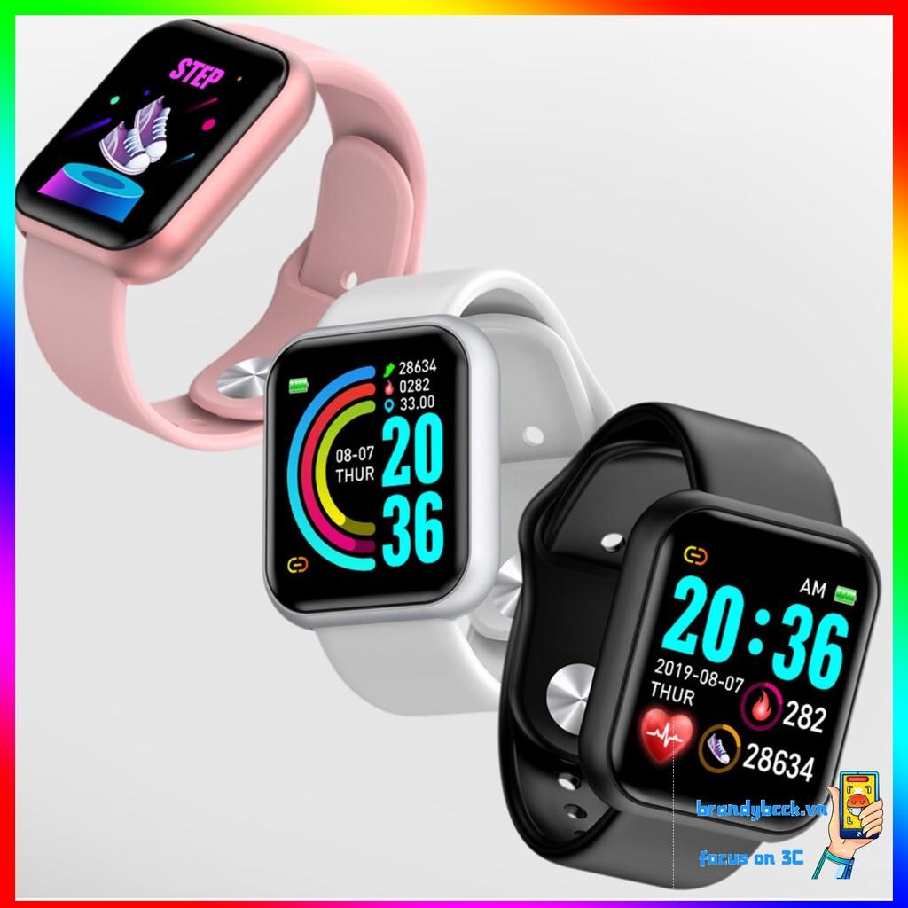 Đồng hồ đeo tay thông minh Y68 kết nối bluetooth hỗ trợ theo dõi sức khỏe chống thấm nước đa năng