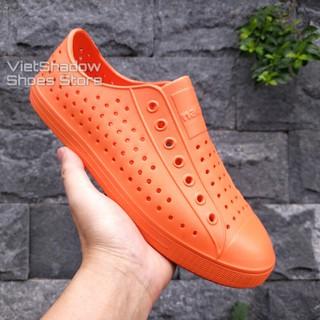 Giày nhựa siêu nhẹ nam nữ - Chất liệu nhựa xốp EVA siêu nhẹ, không thấm nước - Màu cam trơn và có viền thumbnail