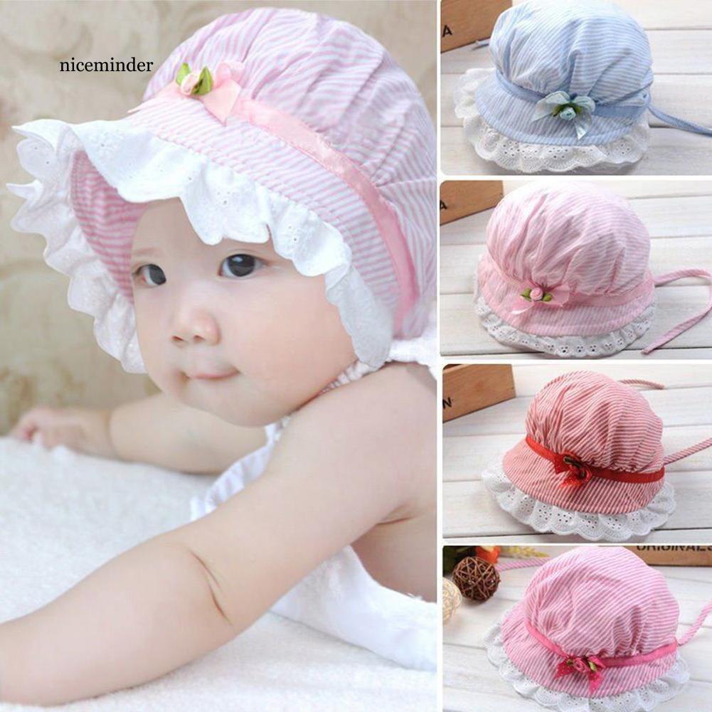 NCM_Toddler Infant Baby Girls Outdoor Flower Bucket Hat Summer Sun Beach Beanie Cap