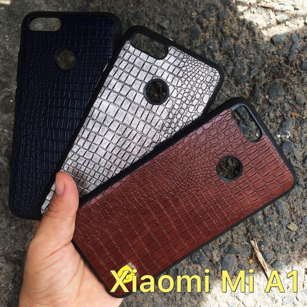 Ốp lưng vân da logo xe hơi cho Xiaomi Mi A1