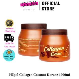 Hấp ủ Collagen Coconut scent Karanz 1000ml giúp tóc mềm mượt thumbnail