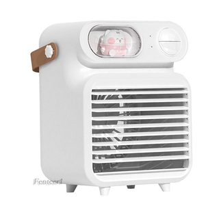[FENTEER1]Air Conditioner Humidifier Fan 4000mAh with 150ml Ice Water Tank for Room