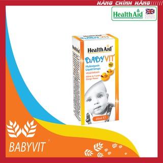 Siro bổ sung dinh dưỡng và năng lượng cho trẻ Health Aid Babyvit (Chai 25ml)