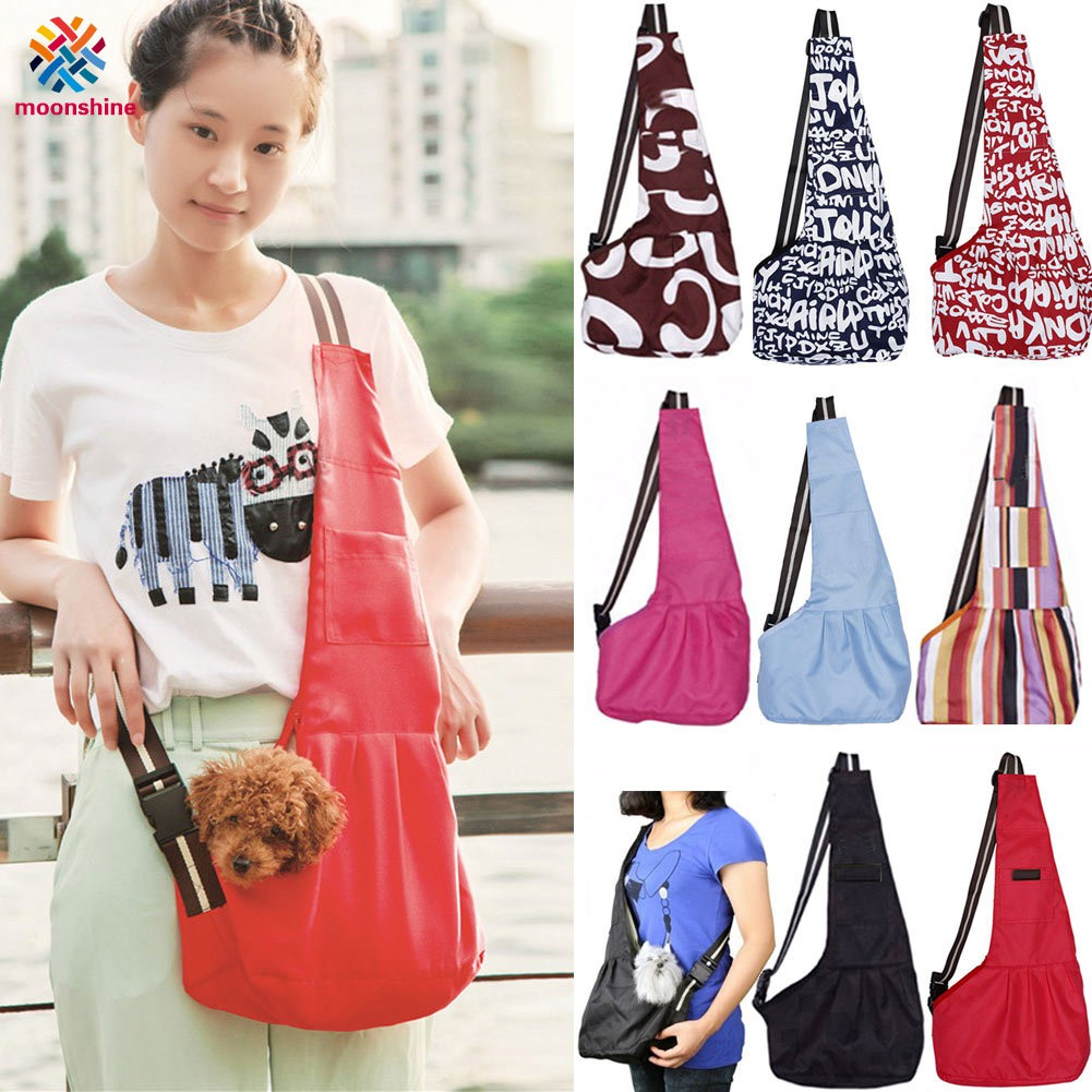 Travel Pet Front Carrier Shoulder Bags Oxford Cat Dog Puppy Chihuahua Small Animal Crossbody Slings Carrying Bag