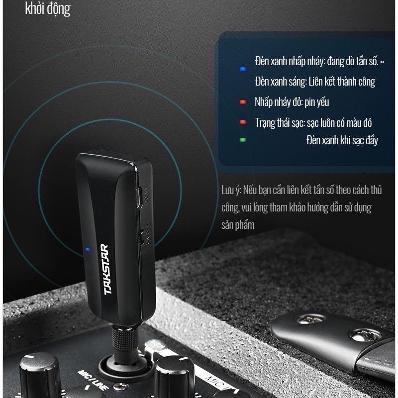 [Hàng chính hãng] Mic không dây karaoke TAKSTAR TS-K201, Công nghệ không dây UHF, Micro không dây đa năng, BẢO HÀNH 1 NĂ