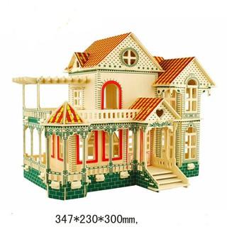 mô hình gỗ biệt thự gỗ