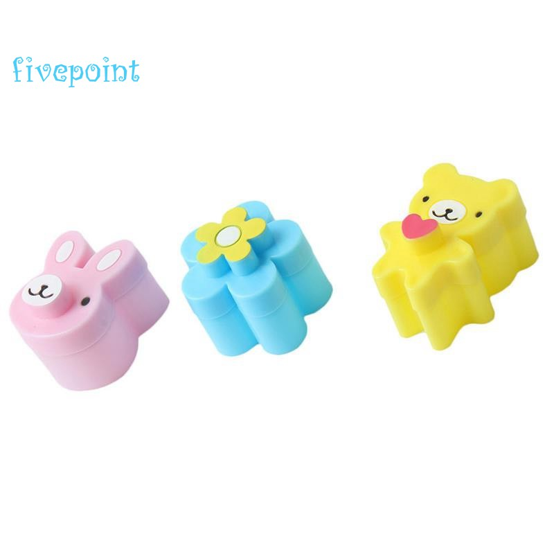3Pcs Cute Sandwich Cutters Shapes Set For Kids Bento Embossed Device