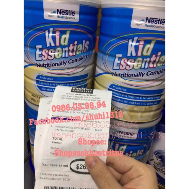 Sữa Kid Essentials Nội địa Úc 800g