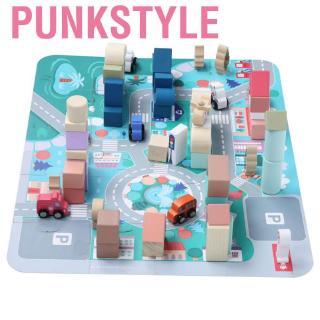 Punkstyle 115Pcs Child Kid Early Educational Wooden Interesting Building Block Intelligent Toy