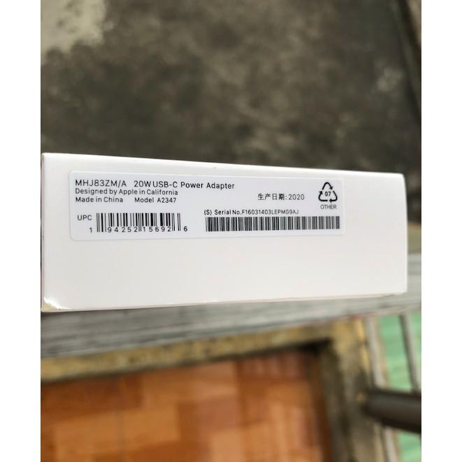 [Freeship Extra] Sạc iPhone 12 Chân Tròn 20W Chuẩn Apple Bộ Cáp Sạc iPhone 12 Pro Max PD 20W Chính Hãng Sạc Cực Nhanh