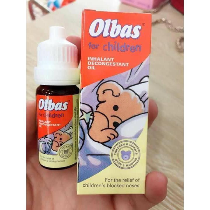 Tinh dầu xông mũi cho bé Olbas for children