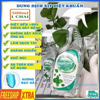 Dung dịch sát khuẩn tay nhanh Hapicare 500ml nước rửa tay diệt khuẩn thumbnail