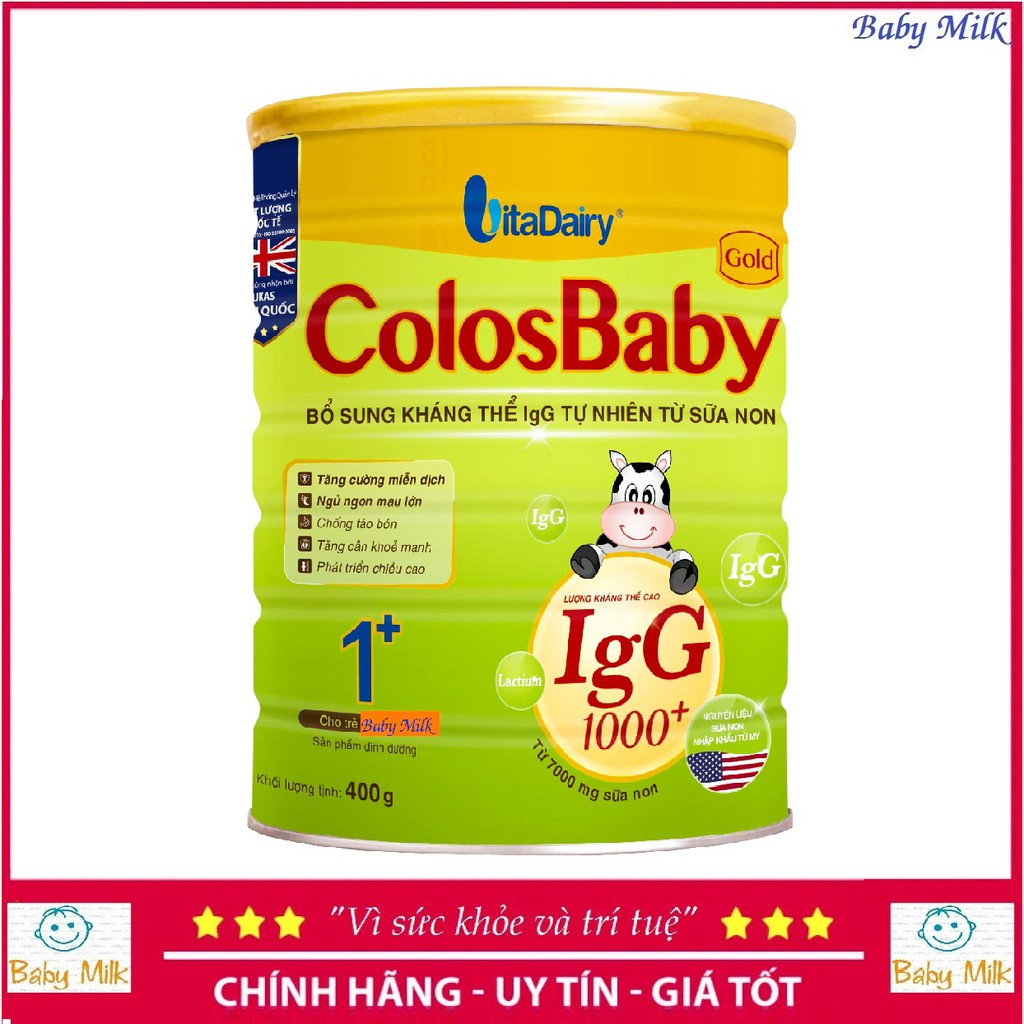 Sữa ColosBaby gold 1000igG 1+ (400g)