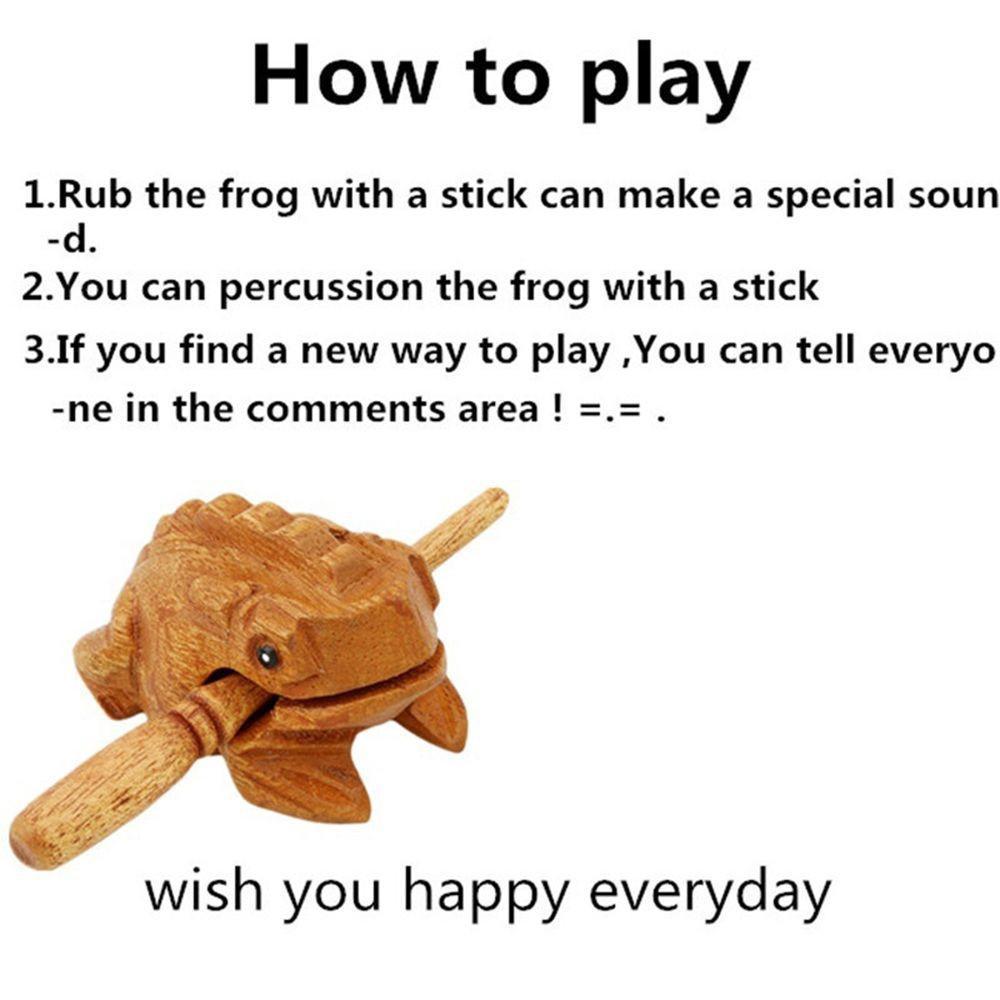 Bộ gõ mõ hình con ếch bằng gỗ