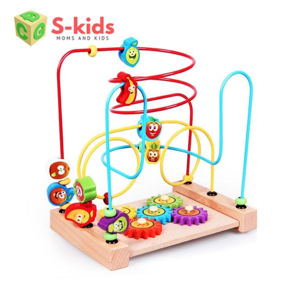 [Mã TOYMALL7 hoàn 20K xu đơn 50K] Đồ chơi gỗ - Bộ Luồn Hạt, Đồ chơi trẻ em thông minh Vivitoys