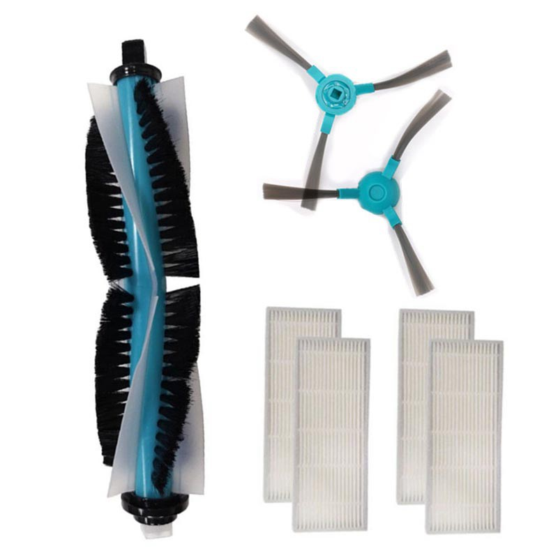 Robot Filter Main Brush Side Brushes Mop for Conga 1390 1290 Series RoCleaner Parts Accessories