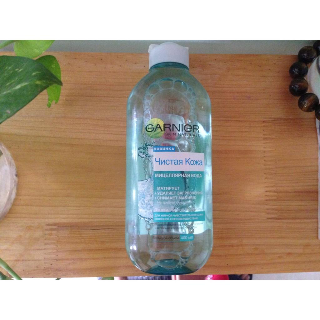 Nước tẩy trang da dầu mụn Garnier Pure Active