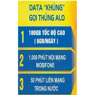 Bán Sim 4G Mobi C90N 90k/tháng = 180Gb (6Gb/ngày) + 1000 phút nội mạng + 50 phút ngoại mạng