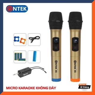 Micro Không dây Karaoke ONTEK E6 cao cấp [2 mic] Micro có dây Vietstar K1 II - Chuyên dụng Karaoke loa kéo, Amply thumbnail
