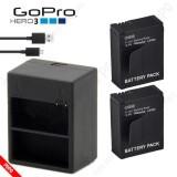 Pin GOPRO Hero 3 1600mAh 3.8V(2 viên) + Sạc đôi Gopro Hero 3, Pin GOPRO chất lượng đạt chuẩn EU, đún