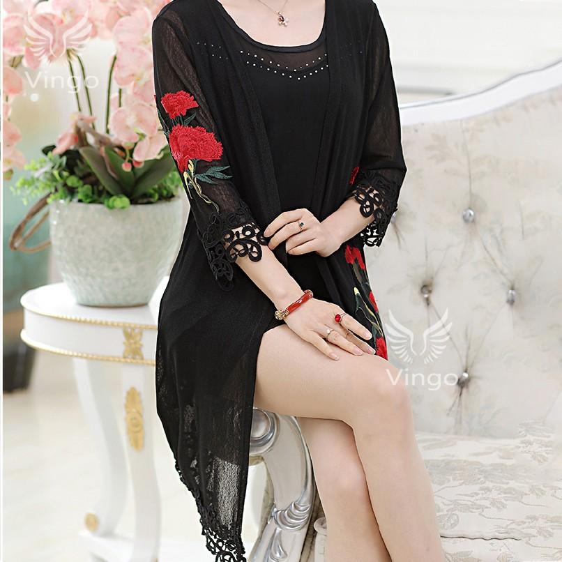 Áo khoác kimono giả váy cao cấp Joan thương hiệu Vingo