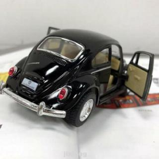 Alloy Anti Fall Beetle Diecast Opening Door Pull Back Action Simulation Car Model