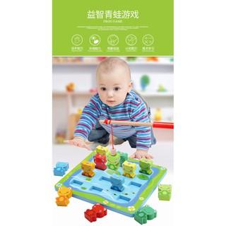 Bộ câu ếch con bằng gỗ trí tuệ cho bé_Đồ chơi gỗSocNhi