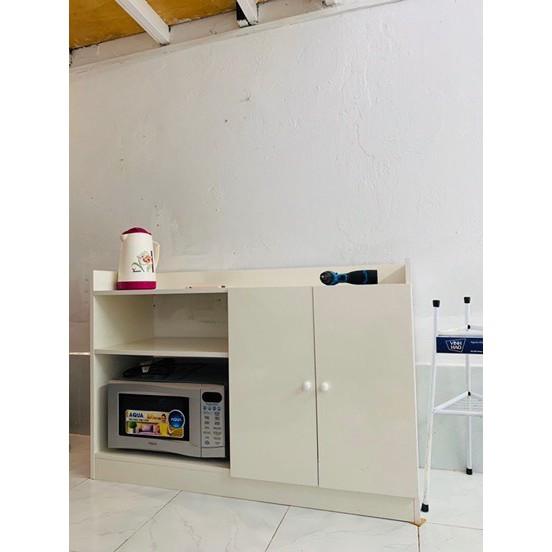 [ SALE SẬP SÀN ] Tủ Nhà Bếp hiện đại 2 Cánh Có Kệ màu Trắng- GP39.1