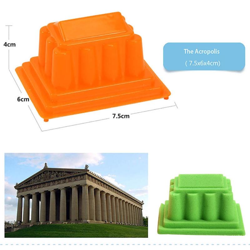 6pcs/Set Motion Sand Castle Building Model Mold Beach Fun Toys For Kids Children