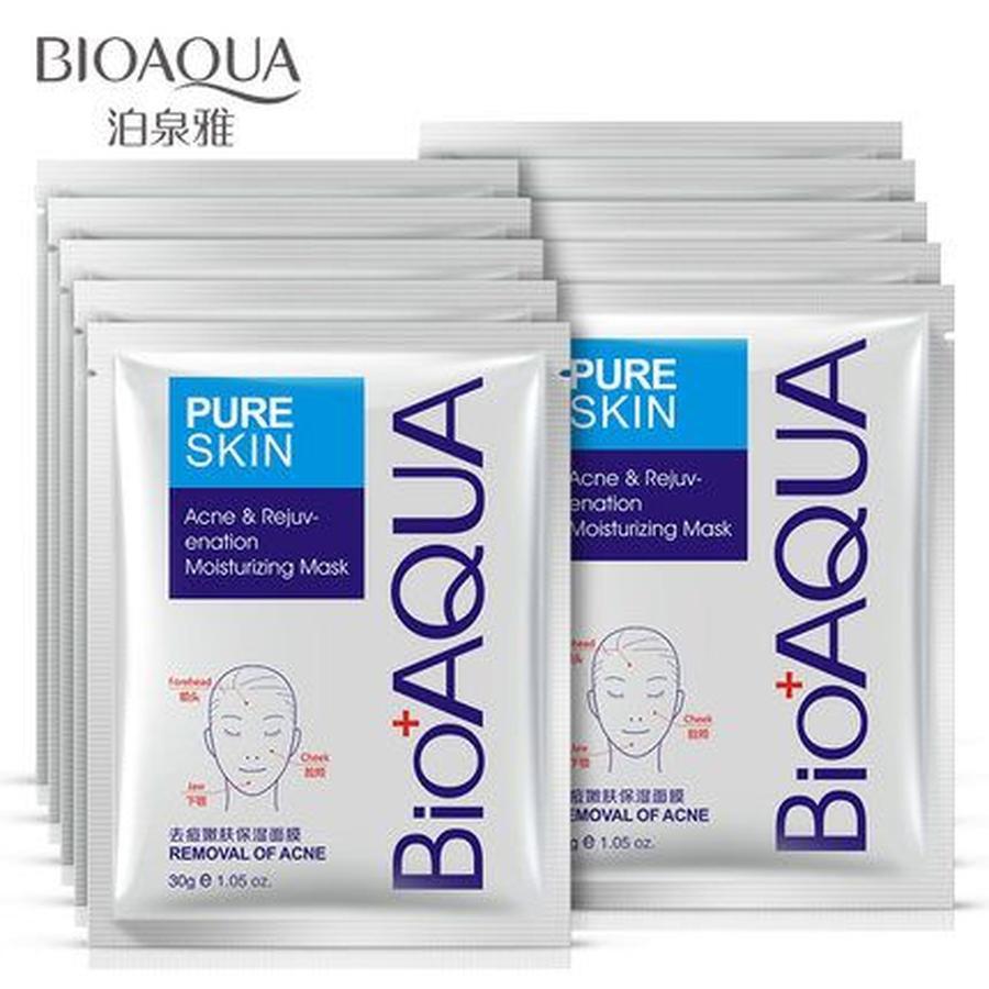 Combo 10 miếng mặt nạ trị mụn Bioaqua Pure Skin - B135