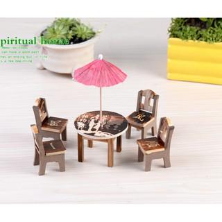 Bộ bàn ghế mini nhà búp bê bằng gỗ kiểu dáng đơn giản(SMD-37)