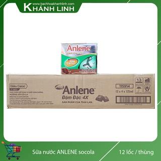 Sữa Nước Anlene Đậm Đặc 4X Hương Socola Thùng 12 Lốc ( 48 Hộp)