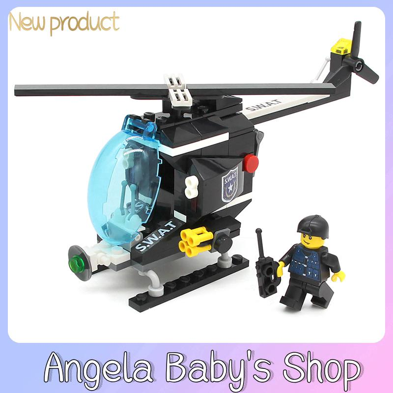 GUDI explosion-proof special police 9408 127PCS patrol helicopter children's