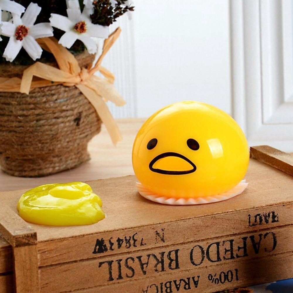 Cute Yellow Round Sucking Vomiting Lazy Egg Yolk Vent Stress