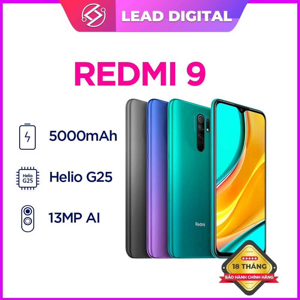 Điện Thoại Xiaomi Redmi 9-Hàng Chính Hãng-Mới Nguyên Seal 100%-Bảo Hành Điện Tử 18th