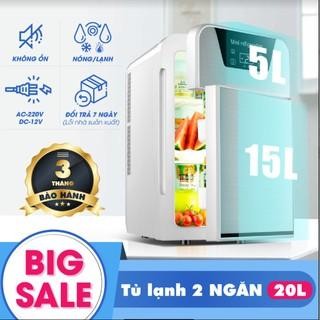 [GIẢM GIÁ SIÊU BẤT NGỜ] Tủ lạnh, tủ mát mini dùng cả trong nhà, trên oto, xe hơi (20 Lít, hai chiều nóng lạnh)