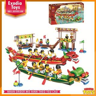 Bộ xếp hình Lễ Hội Đua Thuyền Rồng – Đồ chơi lắp ghép sáng tạo – BELA 11141 Lego Ideas 80103