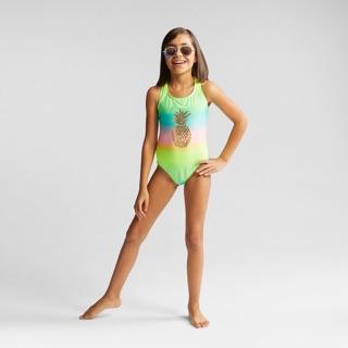 Bikini một mảnh bé gái đẹp quả dứa cầu vồng C&JB01 xuất dư xịn 1 mảnh cho bé