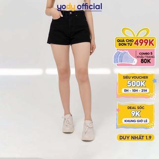 Quần short jean nữ YODY quần ngố cơ bản năng động SJN4004 thumbnail