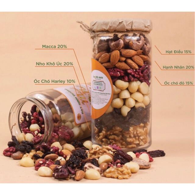 Mix Nuts 6 hạt không vỏ (Nướng chín dậy vị dòn ngon)