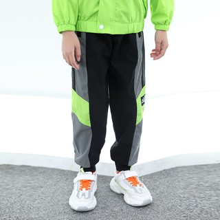 Quần dài bé trai phối màu dạ quang phong cách cool ngầu thể thao Hàn Quốc 2020